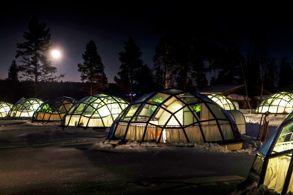 Glass igloo outdoor