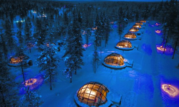 See The Northern Lights From Inside A Glass Igloo