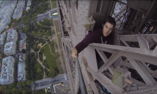 Daredevil Climbs The Eiffel Tower With Nothing But A Camera And A Selfie Stick!