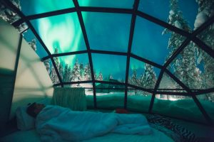 Two person glass igloo