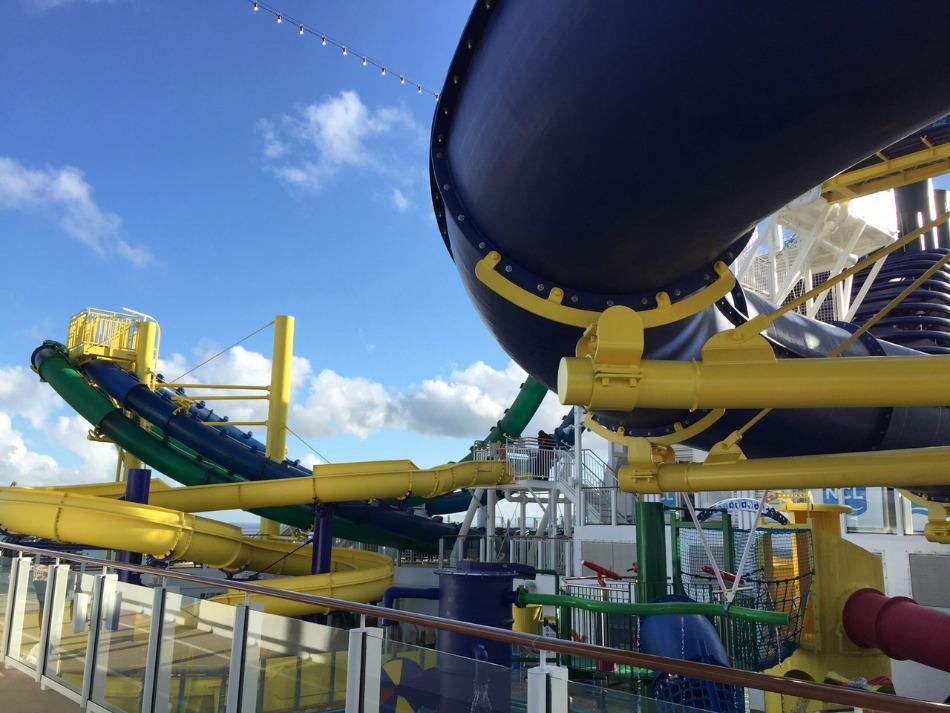 Water slides top deck NCL