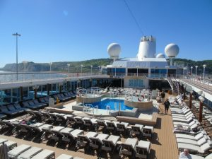 pools and deck on Azamara