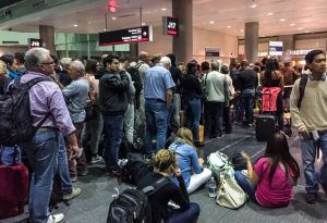 Passengers waiting for boarding