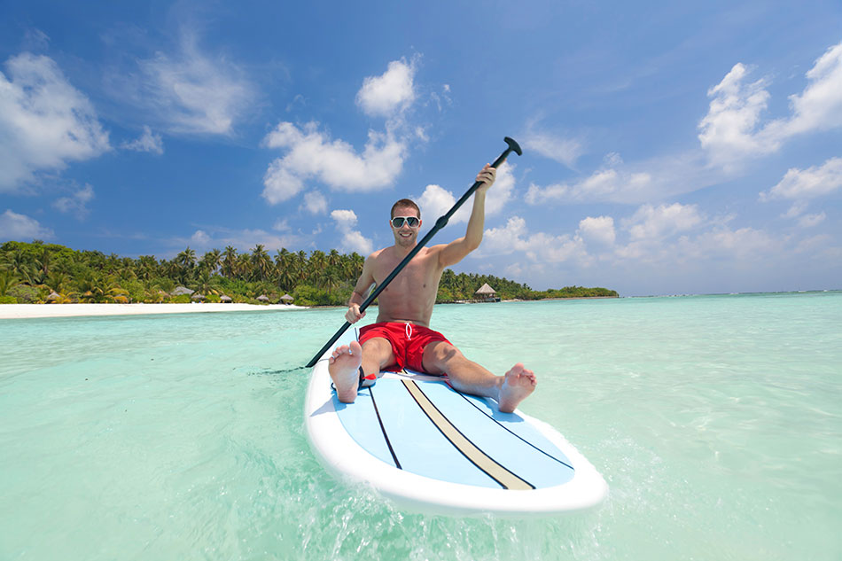 bora bora paddle board