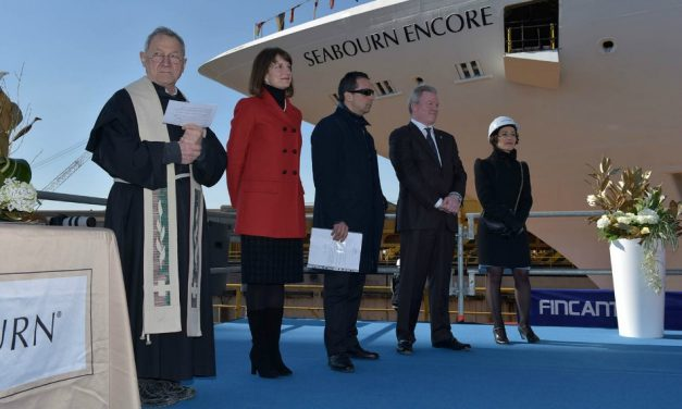 Seabourn Encore Makes Waves During Float Out