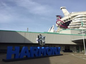 Harmony of the Seas sign