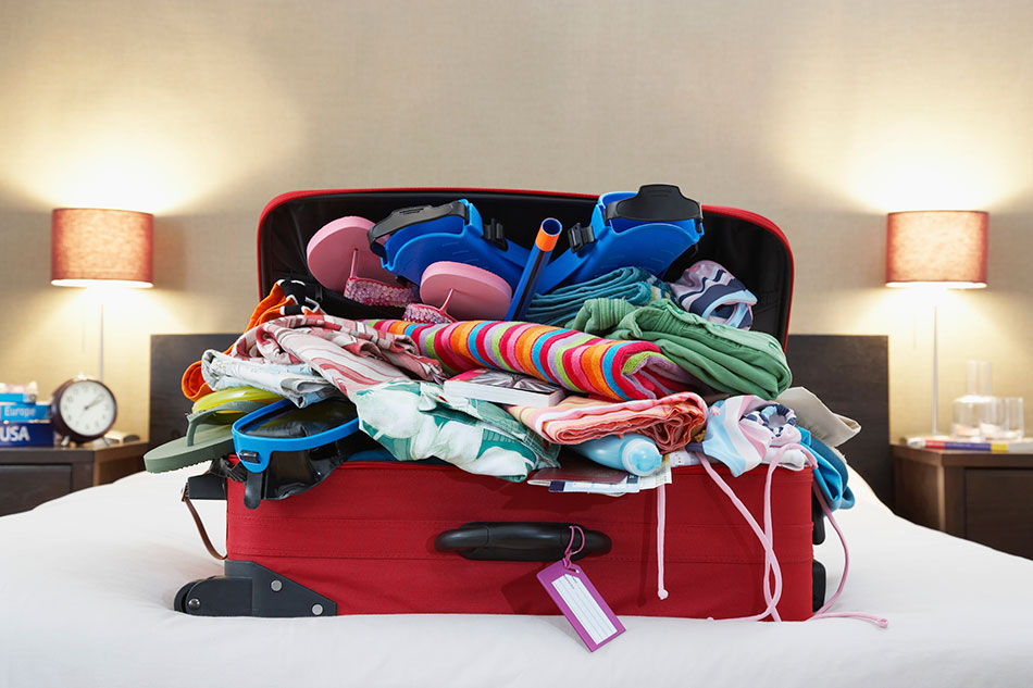 overpacked suitcase