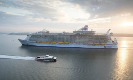 The World's Largest Ship Meets Her Sisters For The First Time