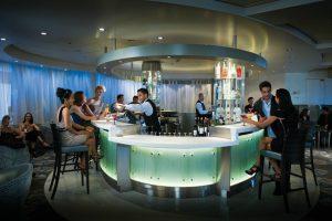 Martini bar on cruise ship