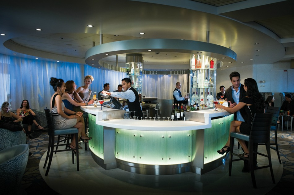 Martini bar on cruise ship