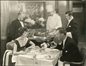 Dining on cunard ship 1950