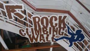 Harmony rock climbing sign