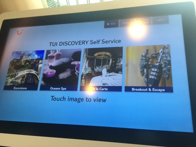 touch screen tui discovery