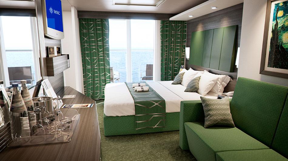 msc new ship cabins