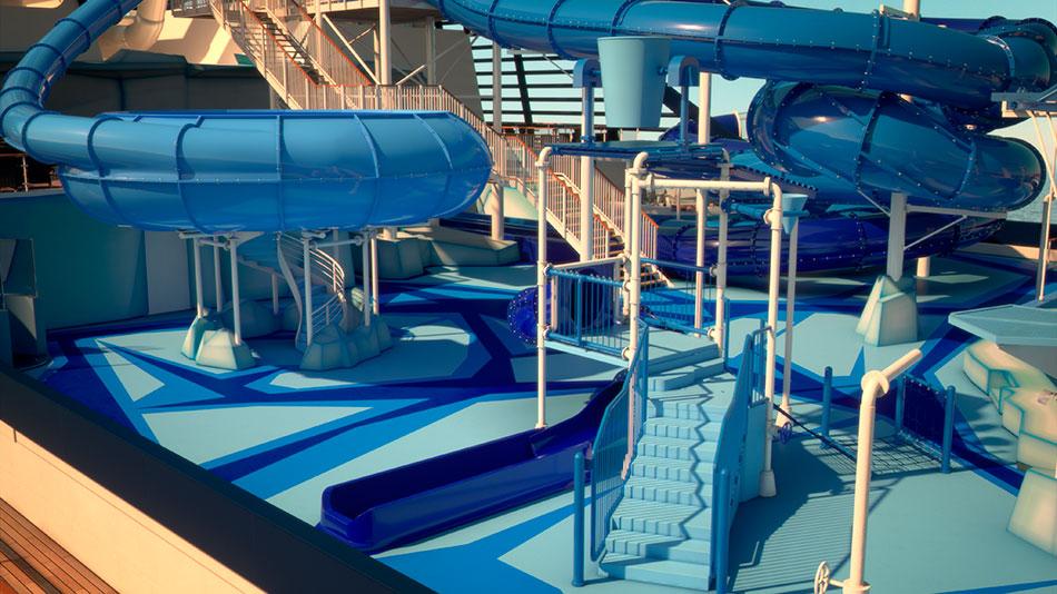 msc new ship aqua park