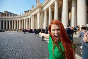 woman angry at queue