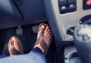 against the law to drive in flip flops in spain
