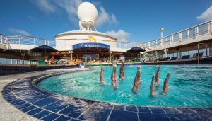 olympics on cruise ships synchronised swimming