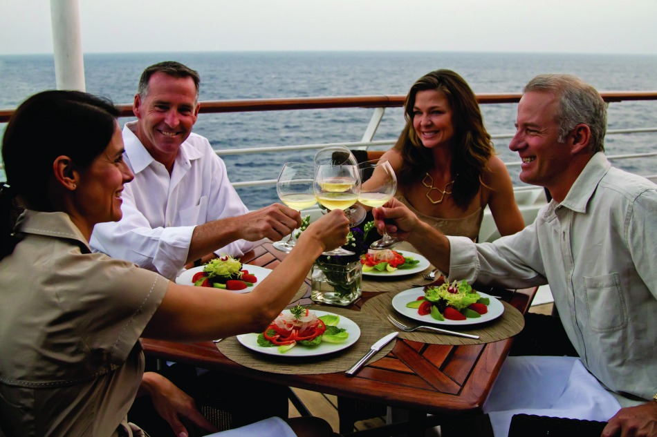 5 star cruise line Azamara dining