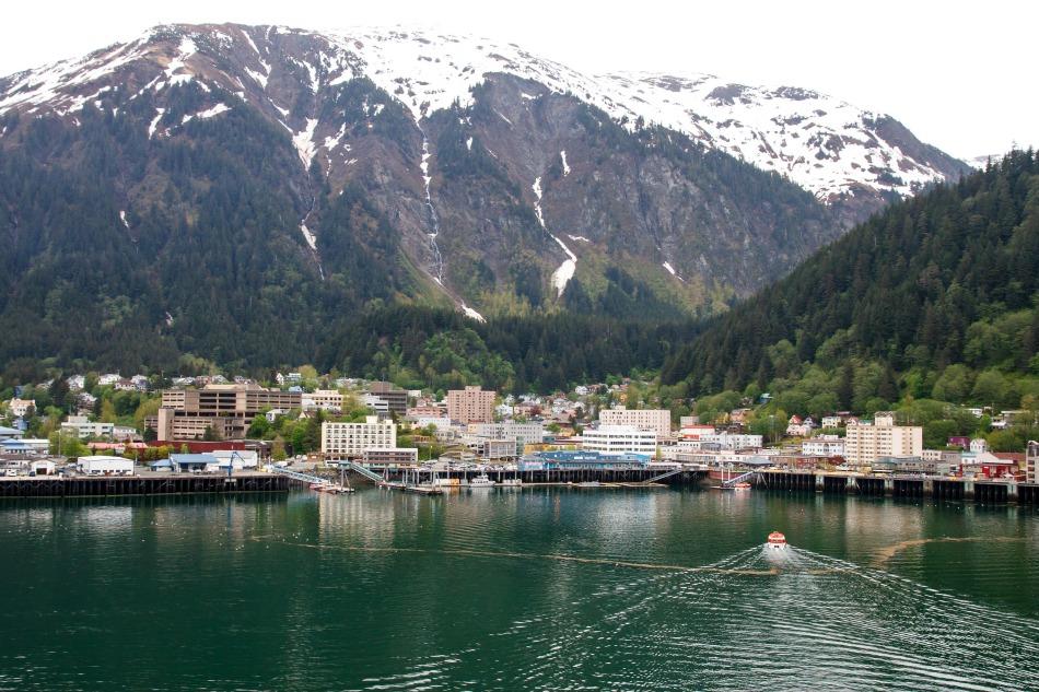 Take the tram up mount roberts in Juneau Alaska