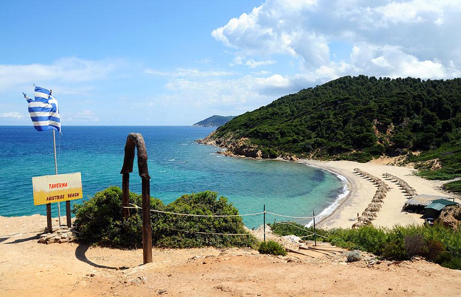 secret beach Lygaries, Skiathos