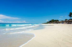 Varadero beach in Cuba