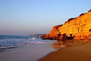 secret beach Salema, Algarve