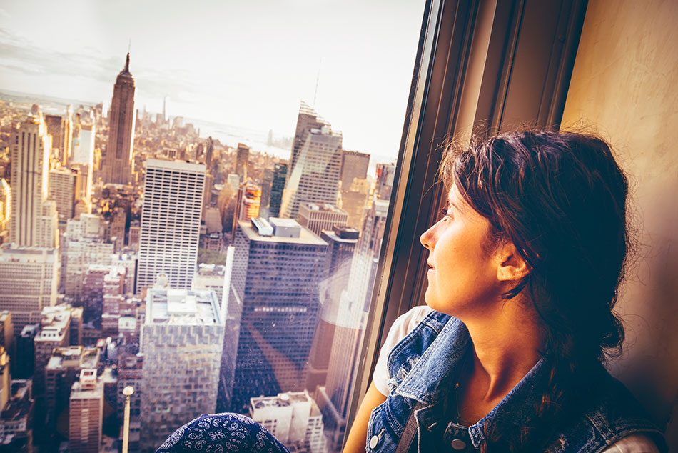 spend 3 hours at the top of the rock in New York