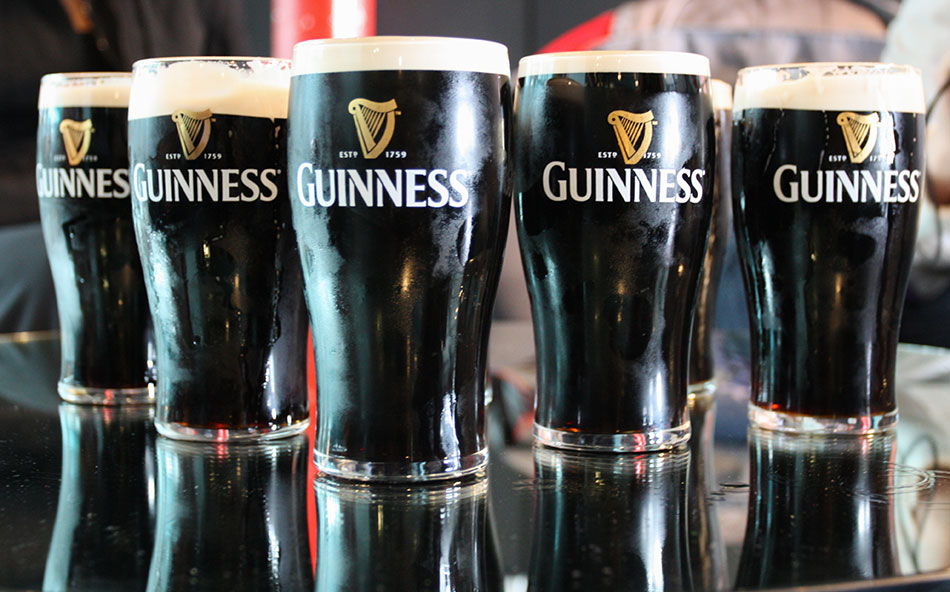 Have a real pint of Guinness in dublin ireland