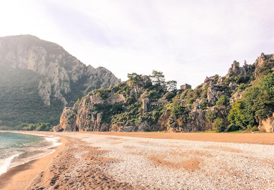 secret beach Cirali Beach, Turkey
