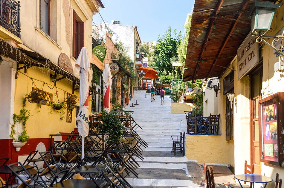 The Plaka in Athens, Greece
