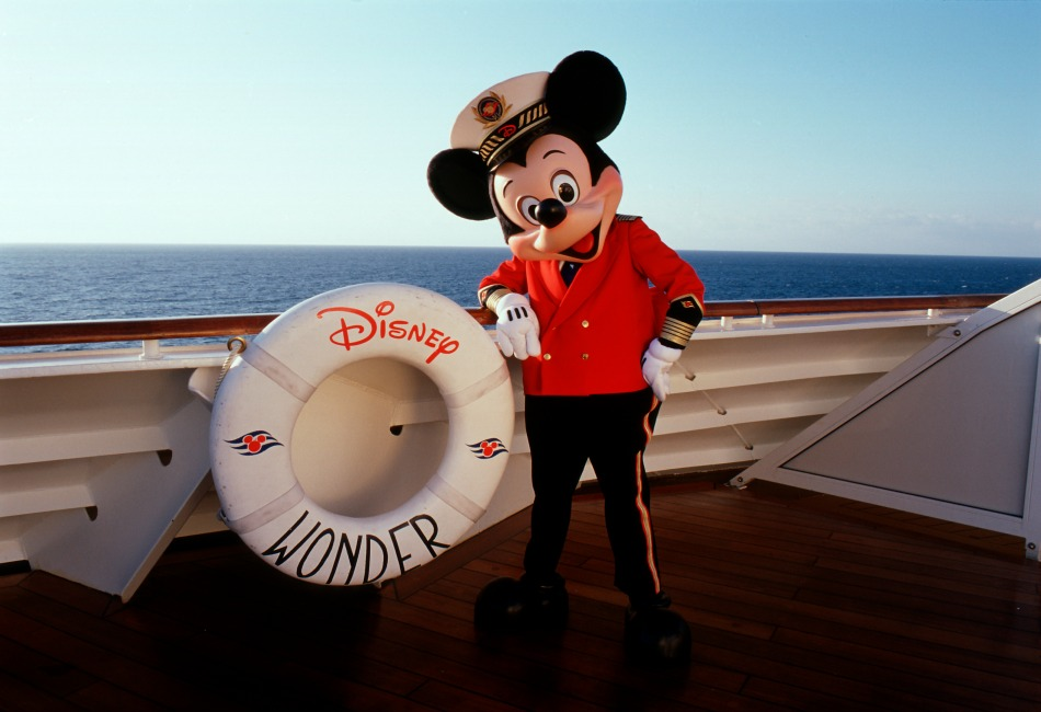 Disney Wonder cruise ship Mickey Mouse