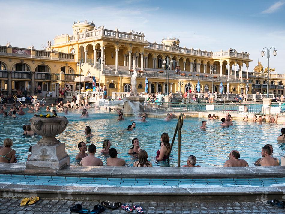 Szechenyi Furdo baths in Budapest