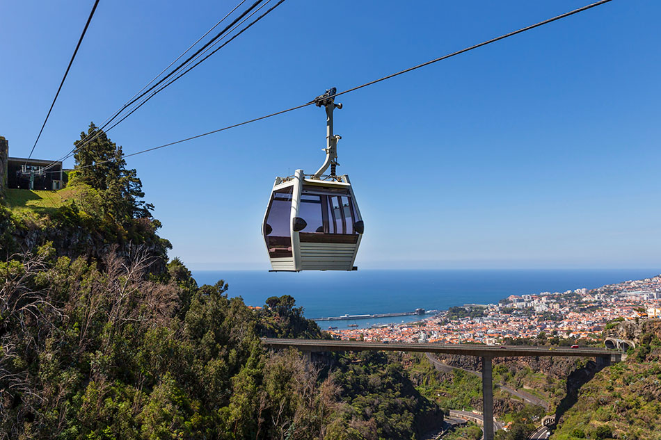 Funchal cable car to Monte