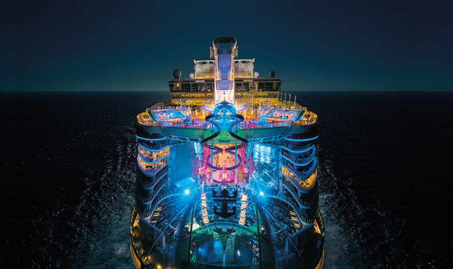 glow in the dark deck for the world s largest ship