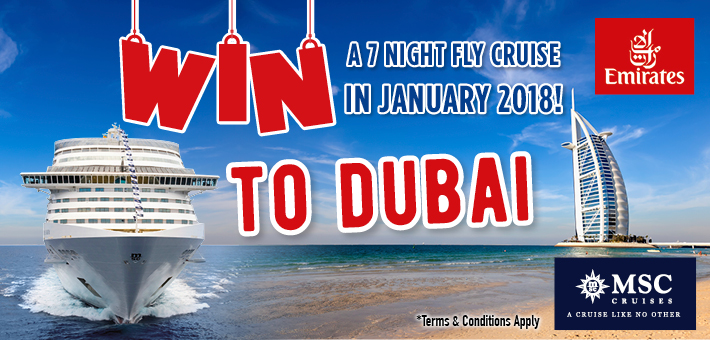 Win a cruise to Dubai on-board MSC Splendida