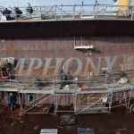 World's Largest Ship Touches The Water For The Very First Time