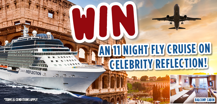 Win a cruise to Rome on-board Celebrity Reflection