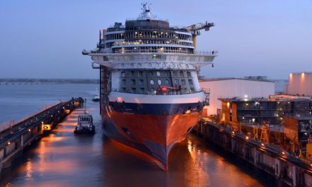 Your Countdown To The World's Most Anticipated Modern Luxury Ship Has Begun With The Official Float Out