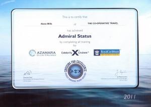 Admiral Certificate