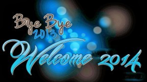 Bye Bye 2013 Happy New Year 2014 Animated 3D Wallpapers Greetings