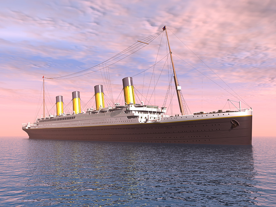 Computer generated 3D illustration with an Ocean Liner