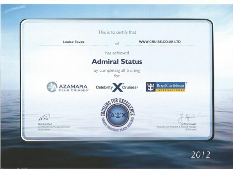 Royal Celebrity and Azamara Admiral Certificate0002