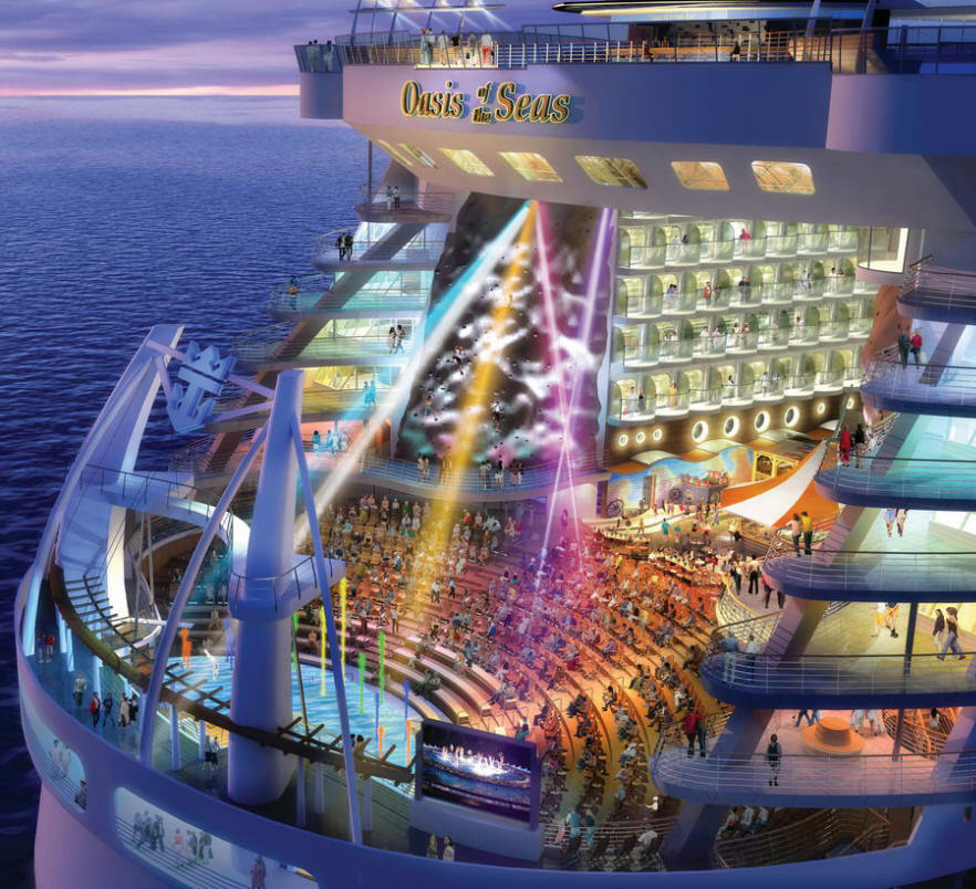 Filems oasis of the seas aqua theater amphitheatre view from the hd