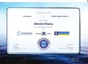 Azamara Club Cruises, Celebrity Cruises & Royal Caribbean Cruises - Admiral