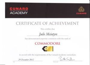 Cunard - Commodore