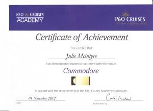 P & O Cruises - Commodore