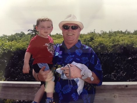 Logan and his Grandad in Hell!! Grand Cayman.