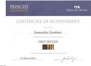 Princess First Officer Certificate