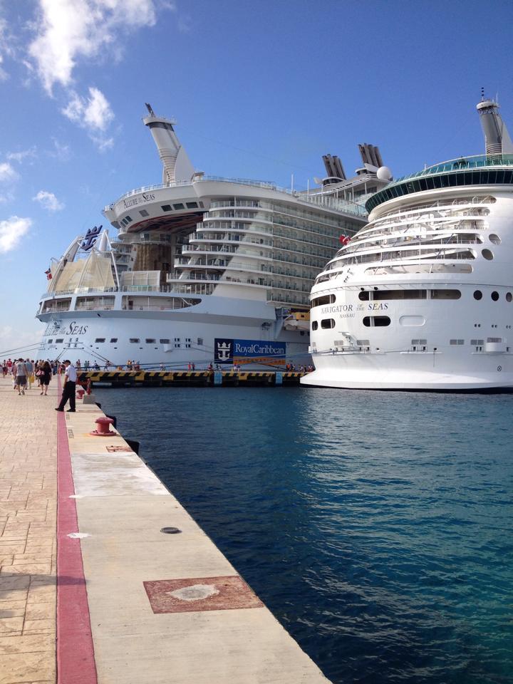 Worlds Biggest Cruise Ships Meet  Emma On Cruise